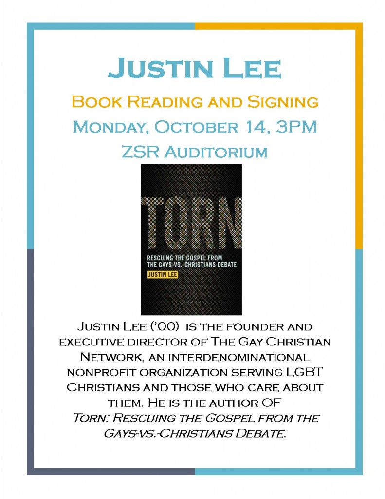 Justin Lee book signing